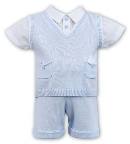 Boys Blue Two Piece Shorts Set